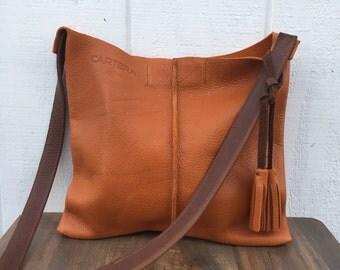 Leather crossbody, leather bag, crossbody leather bag, leather woman bag, leather handbag, leather bag BRI- Light BROWN!