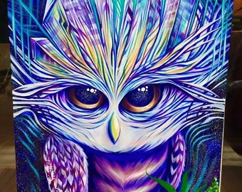 Giclee Canvas Print - Crystal Owl