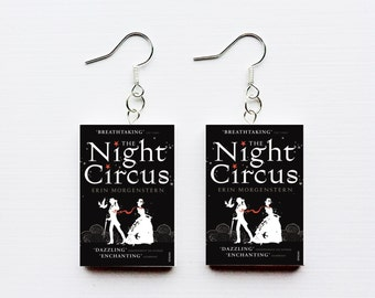 Night Circus mini book earrings