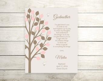 Godmother Gift From Godchild | Godparents Poem | Godparents Gift | Christening | Baptism Gift For Godparents - 43977