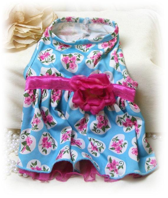 Adorable Hand Made (SMALL) DOGGIE DRESS . . . Custom Designed Small Dog Dress