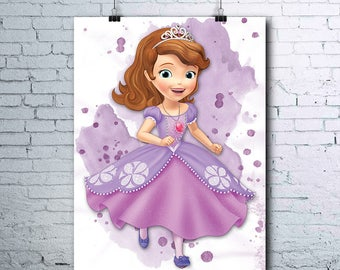 Sofia the first wall   Etsy NO