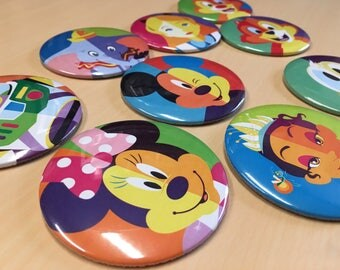"""Disney Character Button SETS (3"""")"""