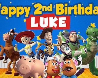 Disney Toy Story Birthday Banner (ToyStory font)