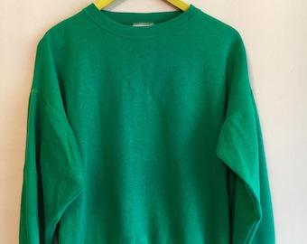 90s green sweatshirt