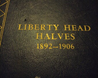 Liberty Head halves coin book 1892-1906 Whitman's