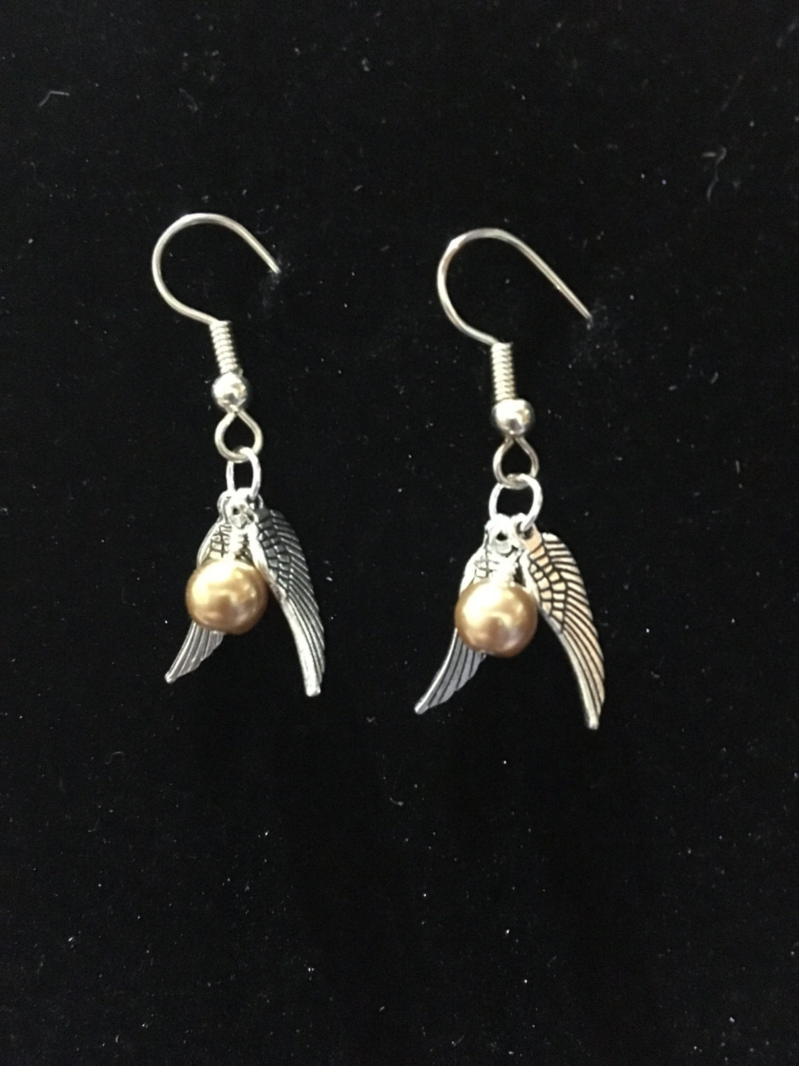 golden snitch earrings small golden snitch earrings for harry potter fans 8683