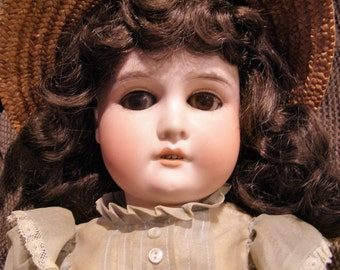 """Adolf Wislizenus – Antique Bisque AW Special Made in Germany Doll – 21"""""""
