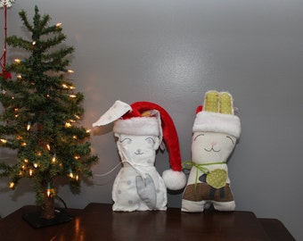 Christmas Stuffy/Christmas Bunny/Santa's Stuffed Animal