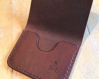 Leather card holder leather wallet card holder wallet edc gear edc everyday carry handstitched wallet hand stitched wallet