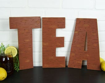 Tea Sign Sweet Tea Party Tea Time Tea Decor Southern Decor Rustic Kitchen Decor Tea Lover Gift Cafe Decor Tea Wall Art Distressed Letters