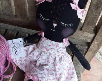 Cat rag doll, handmade 100%, 30cm