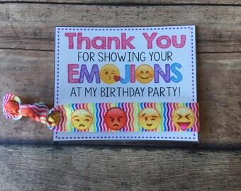 Emoji birthday,Emoji Party favors,Emoji hair ties,Emoji teen party,emoji theme,hair tie birthday favors,Emoji Girls Birthday PArty