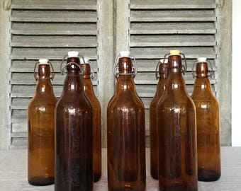 French Bière Bottles x7