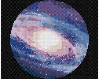 PDF Cross Stitch pattern - 0130.Universe - INSTANT DOWNLOAD