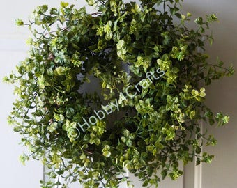 Green Wreath Boxwood Wreath 18 in Rustic Wreath Handmade