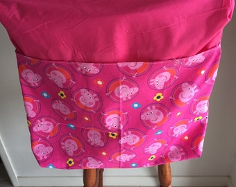 Pig on Pink Chair Bag