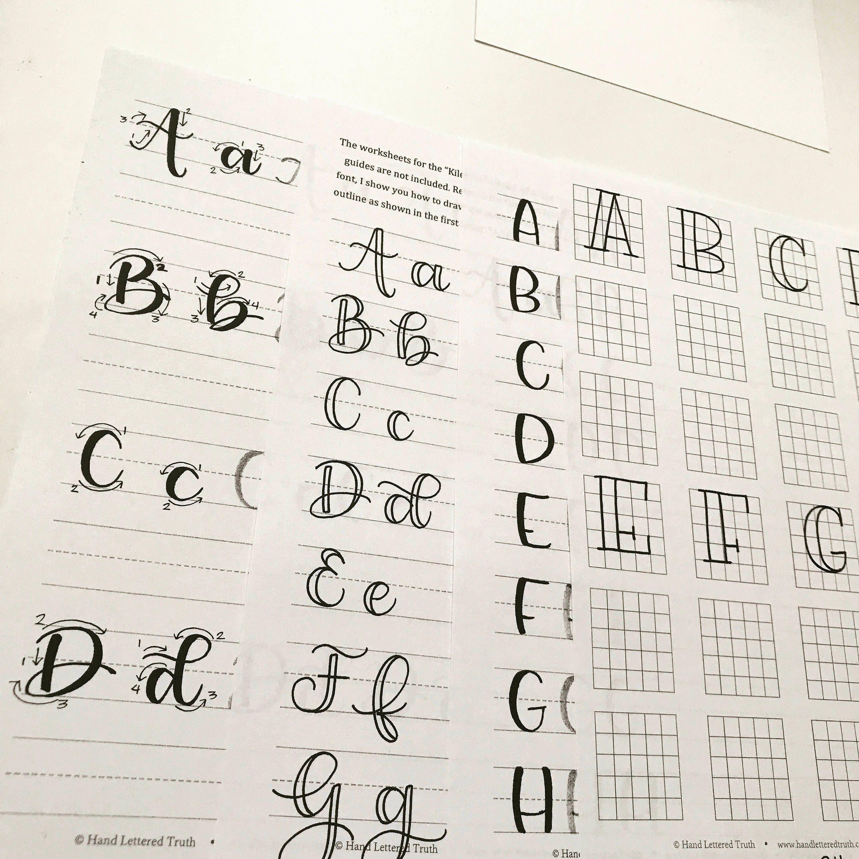 Hand lettering brush calligraphy starter kit from