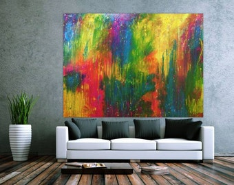 Original abstract artwork on canvas ready to hang 150x200cm #581