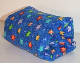 "Medium Moist Heat Therapy Rice Bag (13"" x 6"") Blue & Stars- Unscented"