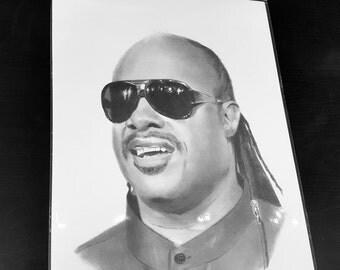 Stevie Wonder pencil drawing