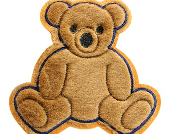 Brown Teddy Bear Kaylee Firefly Costume Embroidered Sew On Patches Applique DIY Cosplay Craft Supplies JS106