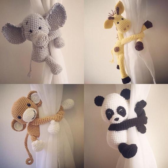 Curtain tie back tieback nursery monkey giraffe panda