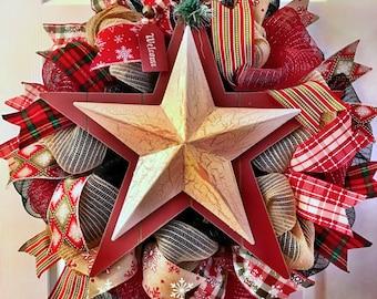 Winter wreath, Snow wreath, snowman wreath, holiday wreath, Christmas wreath, decomesh winter wreath, snow