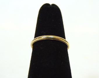 Vintage Estate 14k Yellow Gold Wedding Band Ring 1.7g #E1036