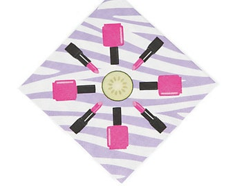 Spa Tacular Beverage napkins / Spa day party theme/ spa day
