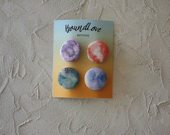 Set of Four Galaxy Buttons