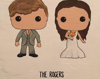Custom Wedding Bobblehead Couple