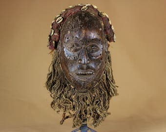 Former Kongo ethnic mask from the Democratic Republic of the Congo