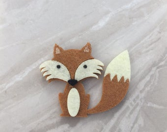 Fox Felt Magnets, Fridge magnets, kitchen decor, animal magnet, fox magnet, home decor, office magnet