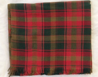 Maple leaf tartan scarf - maple leaf tartan wrap - maple leaf tartan shawl - in 100% cotton