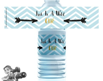 Wild One Water Bottle Labels
