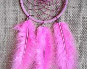 Heart Chakra Dream Catcher, Pink Dream Catcher, Boho Chic, Gypsy Decor, Dream Catcher