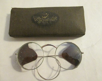 1915  dated Albex Eye Protector Wilson goggles in  original Wilson case. Safety/driving/motorcycle/aviation goggles. 30% off now 87.50