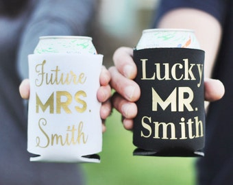 Engagement Gift, Future Mrs Lucky Mr, Engagement Gift, Bride To Be, Can Holder, Engagement Gift for Couple