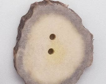 Cross-Cut Blind-Hole Moose Antler Button: 1.0-1.5""