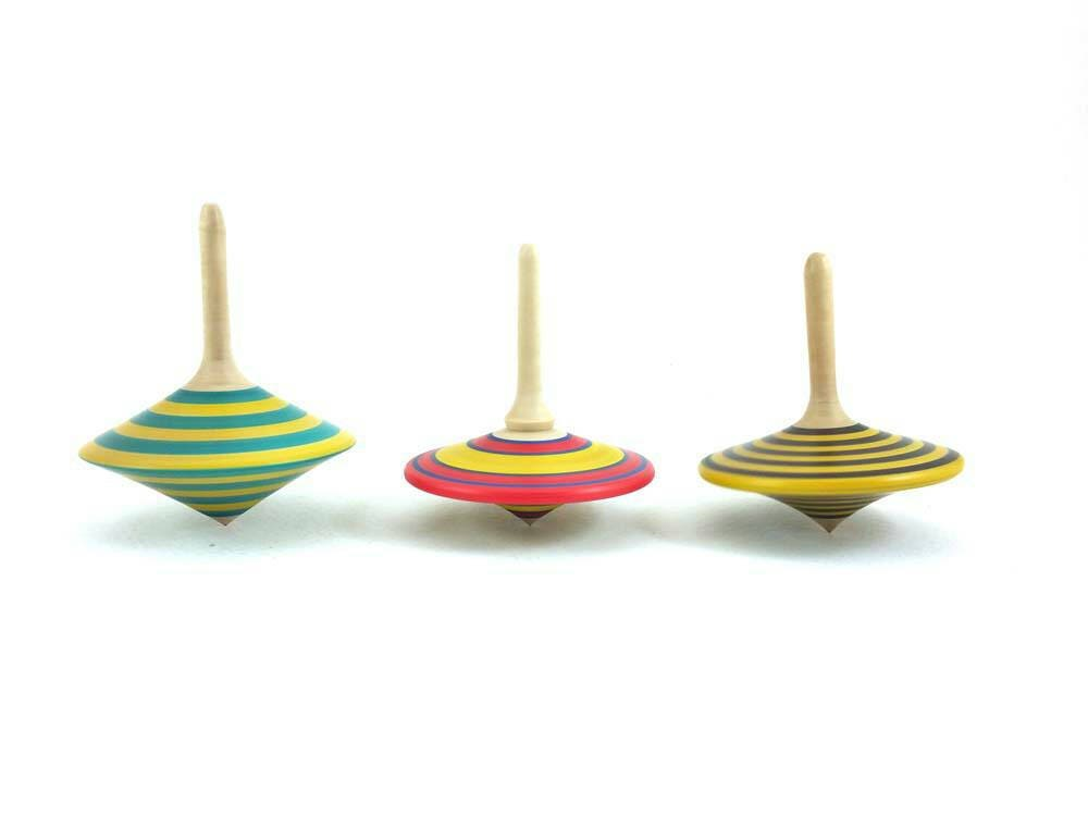 Spinning top group H Wooden spinning tops Vintage gift