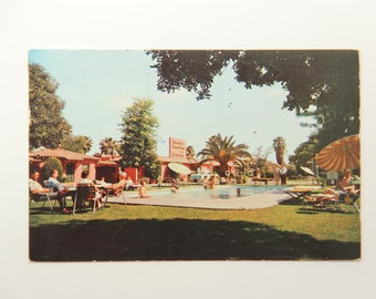 Vintage Postcard Hotel Phoenix Arizona Poolside Color Photo - Original 1956