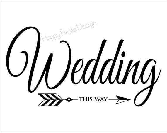PRINTABLE Wedding This Way Sign-DIY Wedding Direction