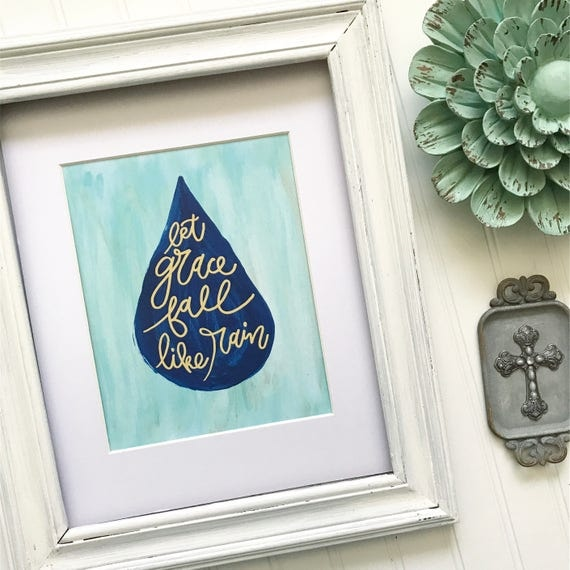 "Hand lettered and painted 8x10"" Print * Christian Catholic Home Decor"