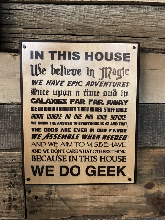 We Do Geek Wooden Sign Geek Home Decor We Do Geek By Mistylous