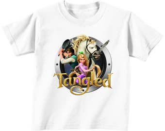 Tangled Custom t-shirt (Different Colors)