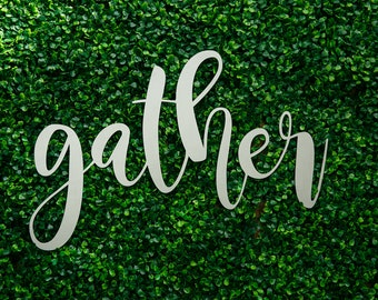 Gather (steel sign)