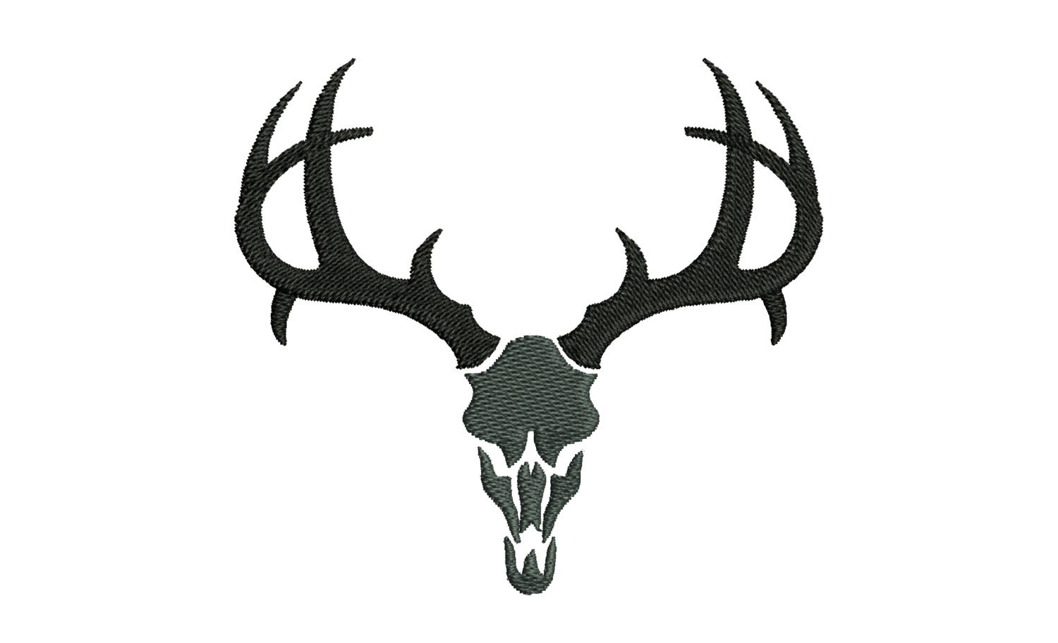 Buck deer skull silhouette embroidery designs many mini sizes