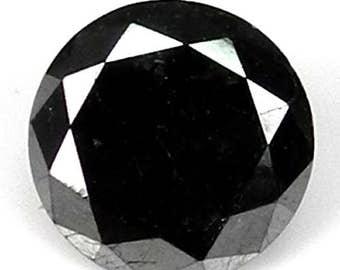 2.03cts 7.0mm Black Natural Loose Diamond