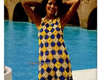 Vintage Tunic Dress crochet pattern in PDF instant download version